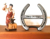 Last name Letter H, horseshoe wedding cake topper initial H, 6th or 11th anniversary, engraving available
