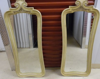MIRROR MIRROR! / Pair Of Super Tall French Provincial Mirrors / Over 4 Feet Tall / Paris Apt / Perfect To Paint