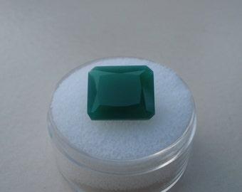 Green agate emerald loose gem 12 x 10mm