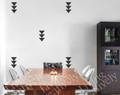 Faux Wallpaper Modern Triangle Decal - Accent Wall Decal - Many Color Choices