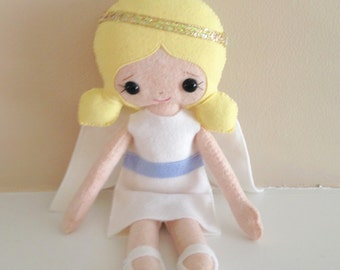 Catholic Saint Doll -Guardian Angel - Wool blend felt