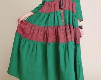 Women 9 points sleeve Loose Fitting dress
