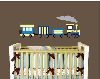 20% OFF SALE REUSABLE Train Wall Decal - Childrens Decals - B605Wa