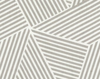 Two 26 x 26 Custom   Designer Decorative Pillow Covers - Nate  Large Abstract Diamond Stripes - Grey/ White