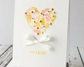 Baby Icon Heart Card