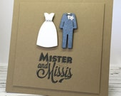Mister & Missis Silhouette Card