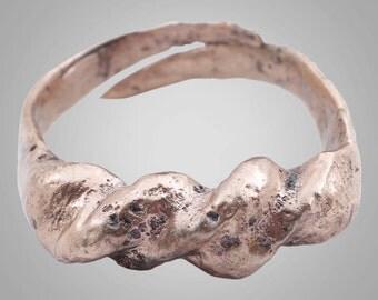 Fantastic Ancient Viking Warriors Coil Ring C.866-1067A.D. Size 10 1/2 (20mm) (Brr825)