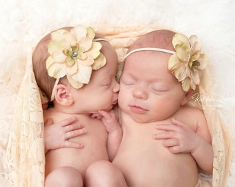Blush colored stretch lace swaddle wrap AND / OR matching headband for newborn photo shoots, photographers, newborn photo shoots