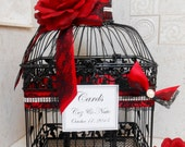 Large Birdcage Wedding Card Holder / Wedding Card Box / Black Birdcage / Victorian Wedding / Gothic Wedding