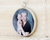 CUSTOM Photo Necklace - Custom Writing - Picture Necklace - Handwriting Jewelry - Personalized - Anniversary - Mother's Day - Memorial