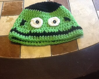 Double crochet Frankenstein hat