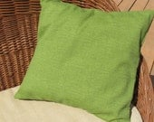 """Green Indoor Outdoor Pillow Cover 18"""" Richloom Monti Leaf"""
