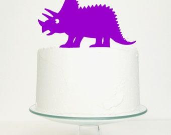Triceratops Dinosaur Cake Topper