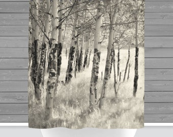 Curtains Ideas birch tree curtains : birch shower curtain – Etsy