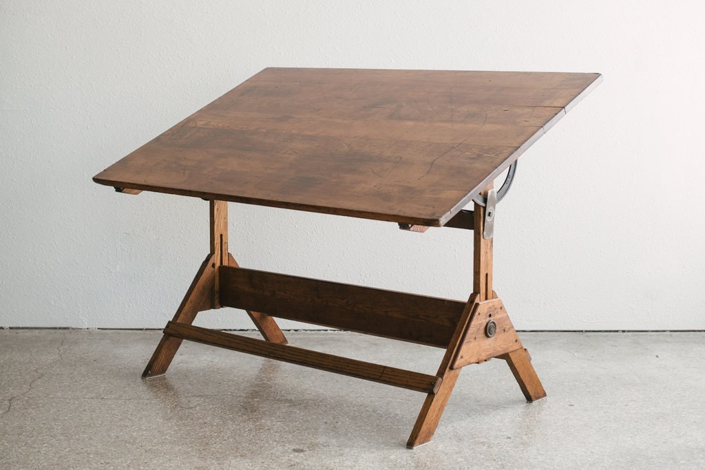 Large Industrial Drafting Table