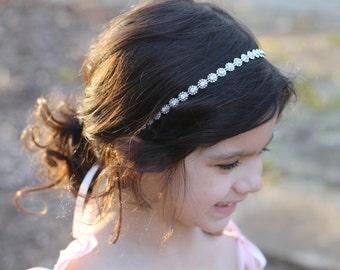 Headband Childrens Flower Girl Wedding Bridal Rhinestone Headband Child Headband Baby Girl Christening