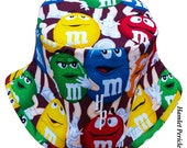 M&Ms Candy Bucket Hat | MandM Hat | Food Hat | Candy Hat | Multicolored Unisex Hat by Hamlet Pericles