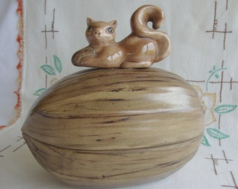 Squirrel nut dish candy cookies cute jar arnel's