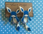 Glaceon Eeveelution Cute Clinging Fake Gauge Earring
