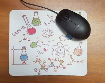Chemistry Mousepad, College Student Gift, Chem Lab Office Gifts, Desk Accessories, Chemistry Teacher, Professor, Chemical Beakers