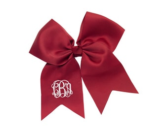 Large Monogrammed Hairbows - All Colors Available - Preppy Hairbow - Tailgate - Football Shirt - Team Colors Hairbows