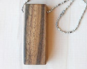Natural wood necklace,wooden bar necklace ,minimal necklace,simple necklace