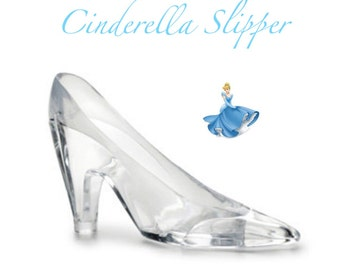 "Cinderella Glass Slipper 6"" One (1) Large Acrylic Slipper / Cake Topper / Party Favors"