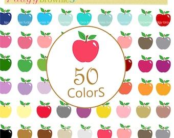 Apple clip art, apples clip art ,digital scrapbooking Clipart, instant download