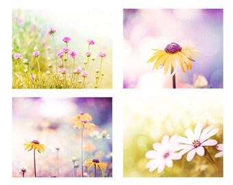 spring photography floral flower photography nature 8x10 16x20 fine art photography daisy botanical lemon lilac pink spring decor nursery