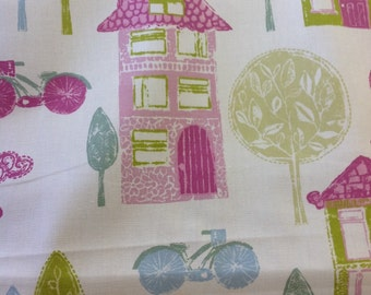 Fryetts my house 100% cotton fabric by the half metre