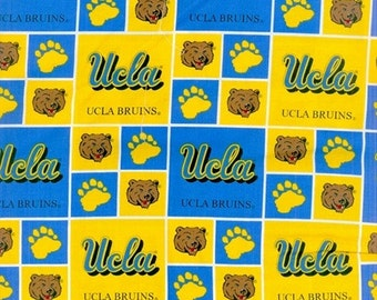 NCAA University of California Los Angeles Bruins UCLA 100% Cotton V2 Fabric by the yard