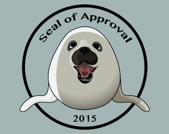 "Art Print - Seal of Approval 2015. Instant Download, Printable Poster. 8"" x 10"""