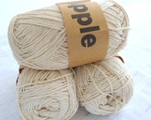 Ivory Bamboo yarn,Each skein: 100 gr, knitting yarn