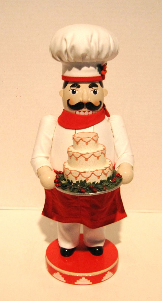 Vintage Wooden Cake Maker Nutcracker 16
