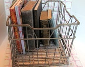Metal Milk Crate from Sealtest Dairy St. Louis, MO