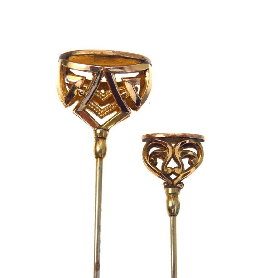 Collectible Hat Pins: Pair Of Antique Art Nouveau Hat Pins By BijouxBela On Etsy