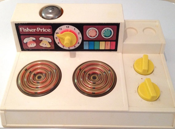 Original 1978 fisher price magic burner stove by for Toy kitchen table
