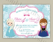 Frozen Princess Birthday Party Invitation - Printable with Color Options