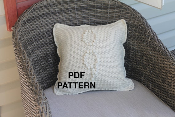 Crochet Semi Colon Pillow Pattern in Support of Mental Health Awareness - Crochet Pillow