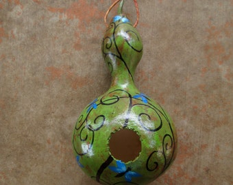 Dragonfly, Hand Painted Birdhouse Gourd,Yard Art, Garden Art, Birdhouse, Birdhouse Gourd, Dragonflies