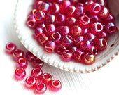 Red seed beads, TOHO beads, size 6/0, Trans-Rainbow Ruby N 165C, rocailles, japanese glass beads - 10g - S548