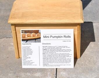 Mini Pumpkin Rolls PRINTED RECIPE