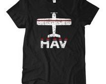 Women's Fly Havana HAV Airport Tee - Havana Airport T-shirt - S M L XL 2x - Ladies Havana Cuba Shirt - 2 Colors