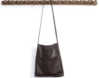 Alesia - Leather Bag - Dark roast