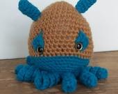 Becca Cook - Squidy amigurumi crochet doll.