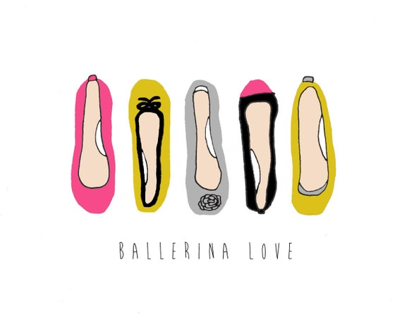 Ballerina Love - 8x10 Illustration Art Print