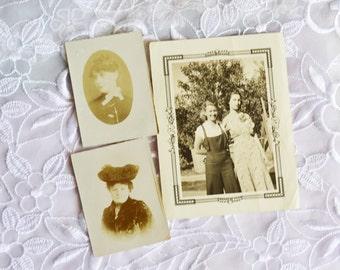 1939 Photographs, Set of three Black and White, Vintage BFF, HALF OFF Sale, Item No. M113