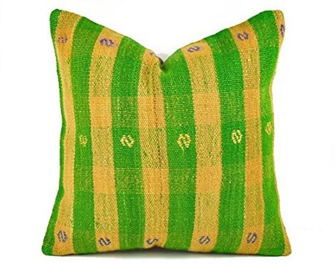 Kilim Pillow Cover, skp8-36, Kilim Pillow, Turkish Pillow, Kilim Cushions, Moroccan Pillow,  Bohemian Pillow, Turkish Kilim, Kilim