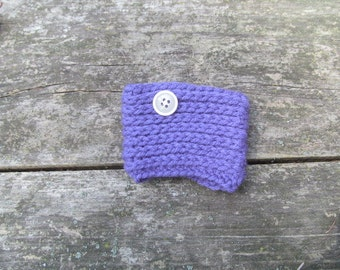 Purple Crocheted Coffee Cozy