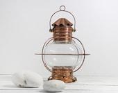 Lantern Copper  Vintage Beach Decor  Nautical Restored by SEASTYLE